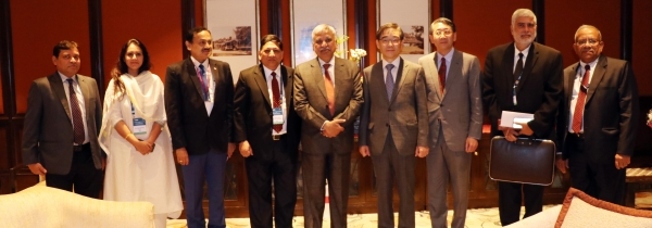 On the sidelines of the three day A- WEB conference Mr. Kwon Soon-il, Chairperson National Election Commission of Republic of Korea met Mr. Sunil Arora, Chief Election Commissioner of India on 2nd September, 2019 to discuss bilateral matters of mutual int