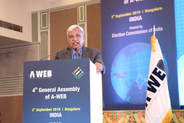 Mr. Sunil Arora, Chief Election Commissioner of India assumed Chairmanship of Association of World Election Bodies for the term 2019-21 on 3rd September, 2019.