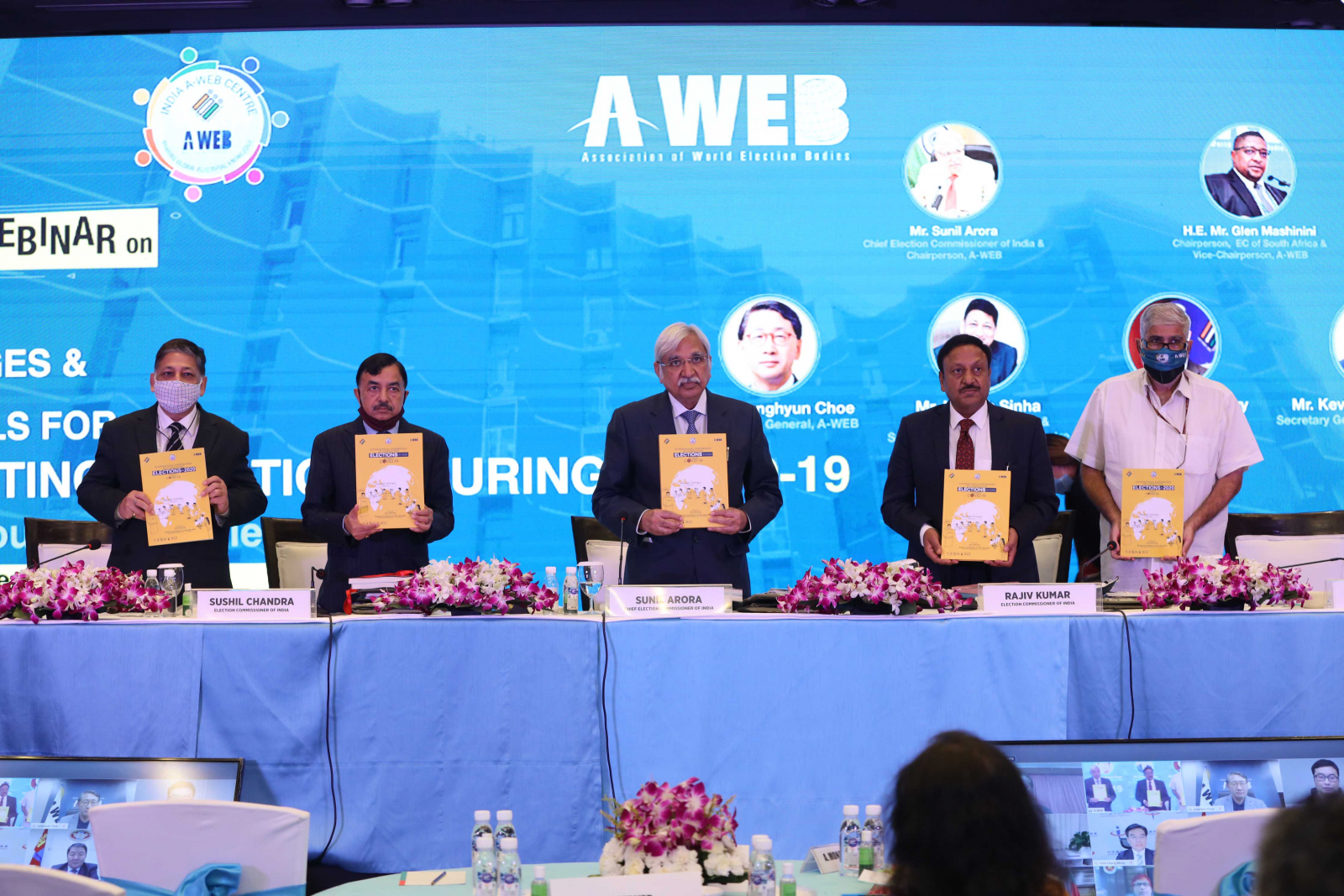 """Release of """"International Experiences of Conducting Elections in 2020 during COVID-19"""" document by Election Commission of India"""